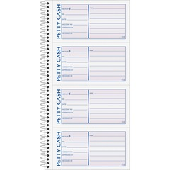Adams Business Forms SC1156: Two Part Petty Cash Book 50 Sheet s Spiral Bound 2 Part Carbonless Copy 11 x 5 Sheet Size Assorted Sheet s 1 Each