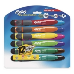 EXPO 83788: Chisel Tip Dry Erase Markers Chisel Point Style Assorted 12 / Set