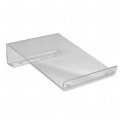 Victor MS100: Calculator Stand 2.5 x 6.5 x 8.5 Acrylic 1 Clear