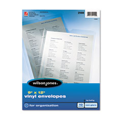 Wilson Jones 21444: Top-Loading Envelope Pouches, Nonglare Finish, 9 x 12, 10 / pack
