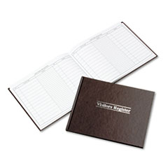 Wilson Jones S490: Visitor Register Book, Red Hardcover, 112 Pages, 1,500 Entries, 8 1/2 X 10 1/2