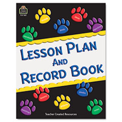 Teacher Created Resources 2551: Paw Prints Lesson / Record Book Weekly 9 Month 8 1/2 x 11 Sheet Size Spiral Bound Reference Calendar 1 Each