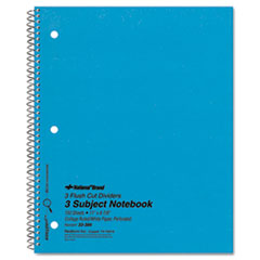 National Brand 33386: Three-Subject Wirebound Notebooks, 3 Subjects, Medium / College Rule, Blue Cover, 11 X 8.88, 150 Sheets