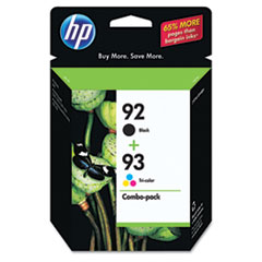 HP C9513FN: 92/93 Original Ink Cartridge Inkjet 220 Pages Black, 220 Pages Color Black, Cyan, Magenta, Yellow 2 / Pack