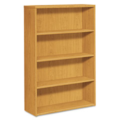 HON 105534CC: 10500 Series Laminate Bookcase, Four-Shelf, 36w x 13-1/8d x 57-1/8h, Harvest