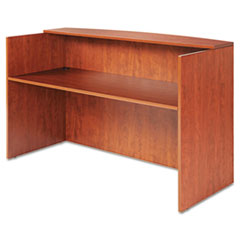 Alera VA327236MC: ALERA VALENCIA SERIES RECEPTION DESK with COUNTER, 71w x 35.5d x 42.5h, CHERRY
