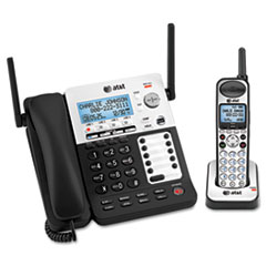 AT&T SB67138: Sb67138 Dect 6.0 Phone / answering System, 4 Line, 1 Corded / 1 Cordless Handset