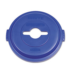 Brute by Rubbermaid 1788380: SINGLE STREAM RECYCLING TOP for BRUTE 32 GAL CONTAINERS, BLUE