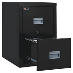 FireKing 2P1825CBL: Patriot Insulated Two-Drawer Fire File, 17.75W X 25D X 27.75H, Black
