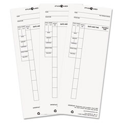 Pyramid Technologies 4410010: Time Card for Model 4000 Payroll Recorder, 3-1/2 x 8-1/2, 100 / pack