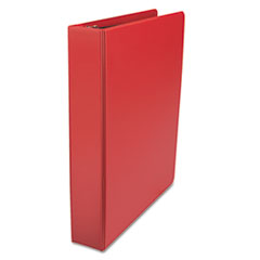 Universal 20773: DELUXE NON-VIEW D-RING BINDER with LABEL HOLDER, 3 RINGS, 1.5 CAPACITY, 11 x 8.5, RED