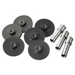 Swingline 74857: Replacement Head Punch Set, Three Heads / five Discs, 9/32 Diameter Hole, Gray