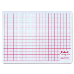 Chartpak WCM812: Self-Healing Cutting Mat, 8 1/2 x 12, White Translucent with red Lines