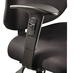 Safco 3399BL: Height / width-Adjustable T-Pad Arms for Alday 24/7 Task Chair, Black, 1 Pair