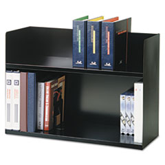 MMF Industries 26423BRBK: Two-Tier Book Rack, Steel, 29 1/8 x 10 5/16 x 20, Black