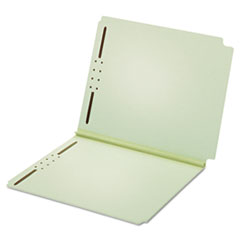 Pendaflex 45715: DUAL TAB PRESSBOARD FOLDER with TWO FASTENERS, STRAIGHT TAB, LETTER SIZE, LIGHT GREEN, 25 / BOX