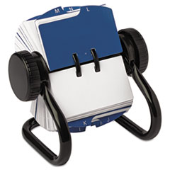 Rolodex 66700: Open Rotary Card File Holds 250 1 3/4 x 3 1/4 Cards, Black