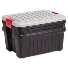 Rubbermaid 11720438 ActionPacker Storage Container / Cargo Box 24gal 26-1/16 x 18-9/16 Black  sc 1 st  OfficeWorld.com & Rubbermaid 11720438: ActionPacker Storage Container / Cargo Box ...