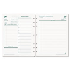Franklin Covey 3542716: Original Full Year Daily Planning Pages Daily 1 Year January 2019 till December 2019 8 1/2 x 11 Green, White Tabbed