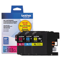 Brother LC1033PKS: Lc1033Pks Innobella High-Yield Ink, 600 Page-Yield, Cyan / Magenta / Yellow