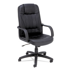 Alera SP41LS10B: Alera Sparis Series Executive High-Back Swivel / tilt Chair, Leather, Black