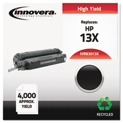 Innovera 83013X: Remanufactured Q2613X 13X High-Yield Toner, 4000 Page-Yield, Black