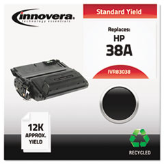 Innovera 83038: Remanufactured Q1338A 38A Toner, 12000 Page-Yield, Black