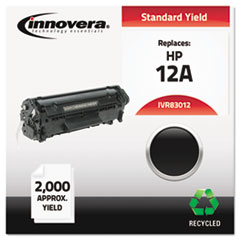 Innovera 83012: Remanufactured Q2612A 12A Toner, 2000 Page-Yield, Black
