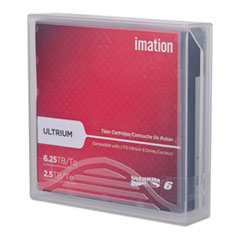 Imation 29080: LTO6 2.5TB Tape Cartridge LTO-6 2.50 TB Native / 6.25 TB Compressed 2775.59 ft Tape Length 160 MB / s Native Data Transfer Rate 400 MB / s Compressed Data Transfer Rate 1 Pack
