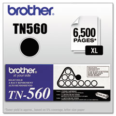 Brother TN560: TN560 Toner Cartridge Laser 6500 Pages Black 1 Each