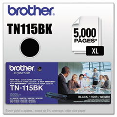 Brother TN115BK: Tn115Bk High-Yield Toner, 5000 Page-Yield, Black