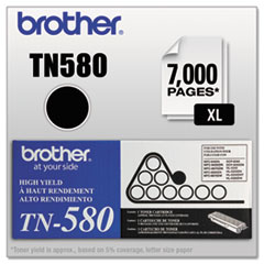 Brother TN580: Tn580 High-Yield Toner, 7000 Page-Yield, Black