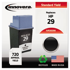 Innovera 2029A: Remanufactured 51629A 29 Ink, 720 Page-Yield, Black