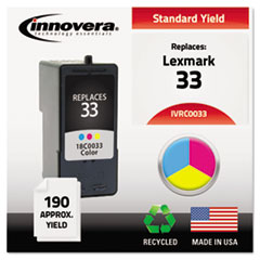 Innovera C0033: Remanufactured 18c0033 33 Ink, Tri-Color
