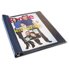 Advantus ANG120D: Catalog / Magazine Binder, Clamp System, 0.5 Capacity, 11 X 9.5, Clear / Navy Blue