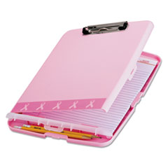 Officemate 08925: Officemate Slim Clipboard Storage Box 11 Pink 1 Each