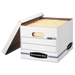 Bankers Box 5703604: Stor / File Storage Box, Letter / Legal Files, 12.5 X 16.25 X 10.5, White, 6 / Pack