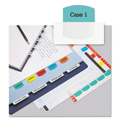 Redi-Tag 33120: Laser Printable Index Tabs, 1/5-Cut Tabs, Assorted Colors, 1.13 Wide, 100 / Pack