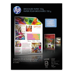 HP Q6611A: Laser Print Brochure / Flyer Paper Letter 8 1/2 x 11 40 lb Basis Weight Glossy 150 / Pack White