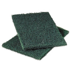 Scotch-Brite 86: Commercial Heavy-Duty Scouring Pad, Green, 6 x 9, 12 / pack