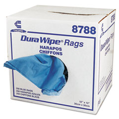 Chicopee 8788: Durawipe General Purpose Towels, 12 x 12, Blue, 250 / carton