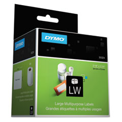 DYMO 30324: Lw Multipurpose Labels, 2.75 X 2.12, White, 320 Labels / Roll