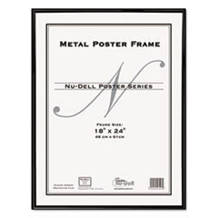 Nu-Dell 31222: Metal Poster Frame, Plastic Face, 18 x 24, Black