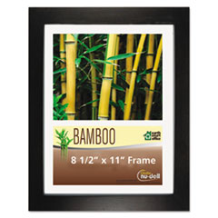 Nu-Dell 14185: Bamboo Frame, 8 1/2 x 11, Black