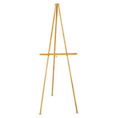 Quartet 41E: Lightweight Tripod Floor Easel, 64 High, Natural Oak