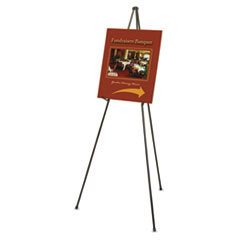 Quartet 27E: Heavy-Duty Adjustable Instant Easel Stand, 25 To 63 High, Steel, Black