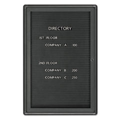 Quartet 2963LM: Enclosed Magnetic Directory, 24 x 36, Black Surface, Graphite Aluminum Frame