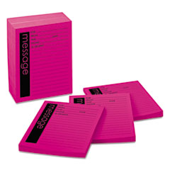 Post-it 7662: Self-Stick Message Pad, 4 x 5, Pink, 50-Sheet, 12 / pack