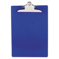 Saunders 21602: Recycled Plastic Clipboard with Ruler Edge, 1 Clip Cap, 8 1/2 x 12 Sheets, Blue