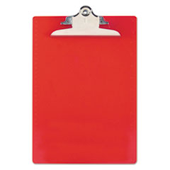 Saunders 21601: Recycled Plastic Clipboard with Ruler Edge, 1 Clip Cap, 8 1/2 x 12 Sheets, Red